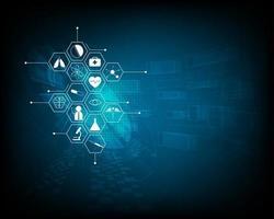 diseño de fondo del concepto de innovación médica patrón de icono de atención médica vector