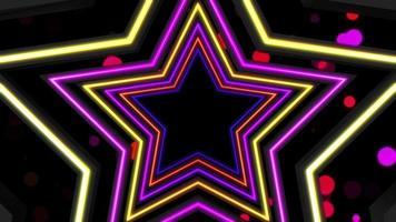 fundo do túnel de estrelas coloridas video