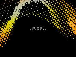 Abstract geometric elegant yellow halftone design background vector