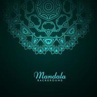 Decorative background with stylish mandala design ornament pattern vector