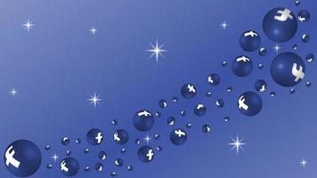 3d vector social media facebook background