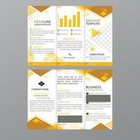 Fold Business Brochure Leaflet Template vector