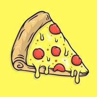Melted mozzarella cheese pizza illustration vector