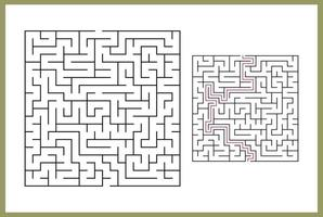 Maze for kids. Abstract square maze. vector