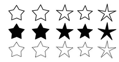 Star icons set. Star collection. Vector illustration.