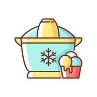 Ice cream maker RGB color icon vector