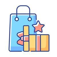 ganar puntos de recompensa icono de color rgb vector