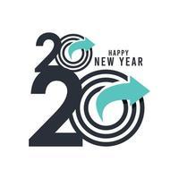 feliz año nuevo 2020 celebración vector plantilla diseño ilustración