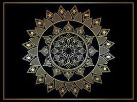 Luxury mandala islamic background pattern vector
