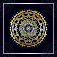 Mandala design golden arabic patter vector