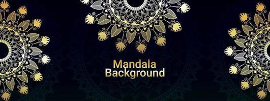 Creative design pattern of luxury mandal background vector