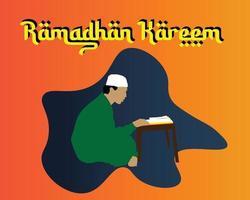 mes de ramadhan kareem vector