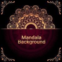 Decorative golden luxury mandala background vector