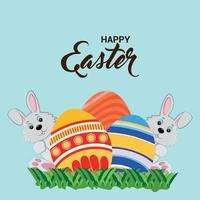Easter day celebration background vector