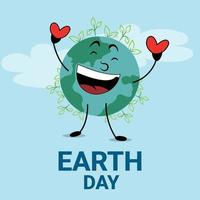 World earth day concept with globe vector