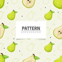 Seamless pear pattern design vector