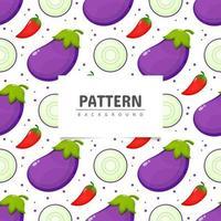 Vegetable eggplant seamless background pattern vector