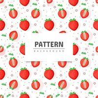 Seamless strawberry fruit pattern vector
