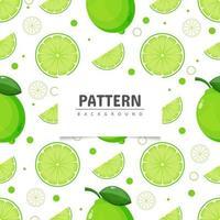 rodajas de limón y lima de patrones sin fisuras vector