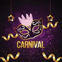 Carnival brazil party event card vector