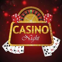 Online casino with slot machine and playing cards poker vector