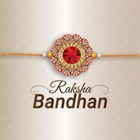 Happy raksha bandhan indian festival of brother and sister relationship vector