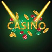 Poker casino with playing cards and luxury background vector