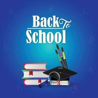 Back to school elementry background vector
