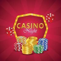 banner de noche de casino vip de lujo vector