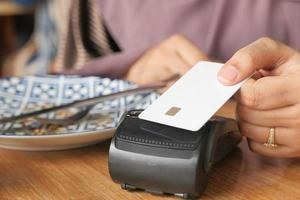 Contactless payment concept with credit card photo