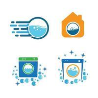 Ilustración de imágenes de logotipo de lavandería vector