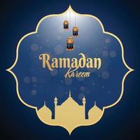 Ramadan kareem or eid mubarak islamic festival vector