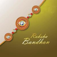 Happy raksha bandhan ther festival of brother and sister vector