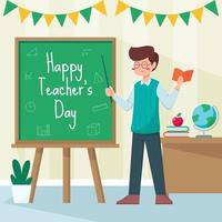 Happy Teacher's Day Design vector