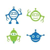 Robot logo vector icon illustration