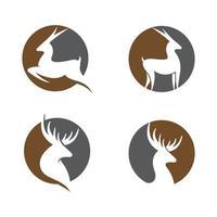 Ilustración de imágenes de logotipo de ciervo vector
