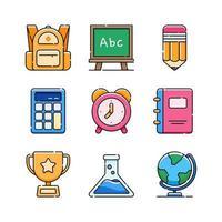 icono de la escuela en diseño plano vector