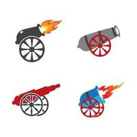 Cannon logo images illustration vector