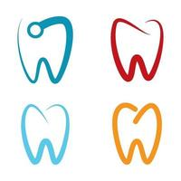 imágenes de logo cuidado dental vector
