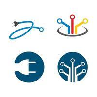 Ilustración de imágenes de logotipo de alambre vector
