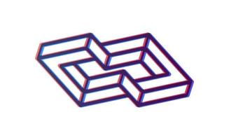 Abstract box cube infinity icon template. blockchain and technology