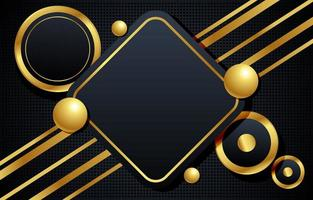 Geometric Gold and Black Background vector