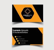 Business Card - Creative and Clean Business Card Template. vector