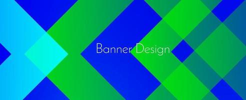 abstract geometric green modern decorative stylish banner background vector