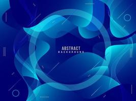 Abstract geometric gradient fluid motion dynamic with modern pattern background vector