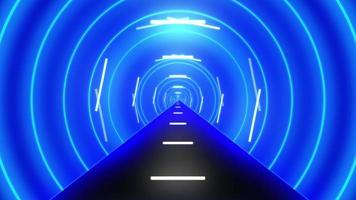 Abstract Futuristic Tunnel with Neon Light, Animated Background.