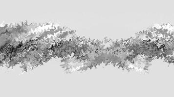 objeto de linha de turbulência prateada com loop criativo