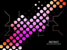 Abstract geometric colorful pattern halftone dots modern design background vector
