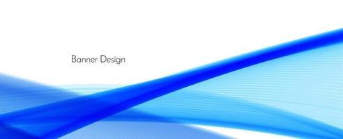 Fondo de banner de diseño de onda moderna azul abstracto vector