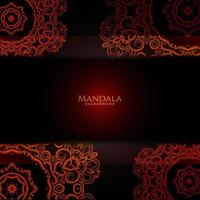 Beautiful mandala design decorative luxury background vector